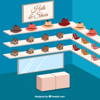 Store Of Hats And Shoes