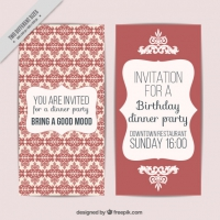Ornamental Wedding Card In Vintage Style