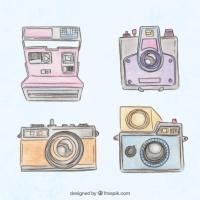 Hand Painted Vintage Polaroid Cameras