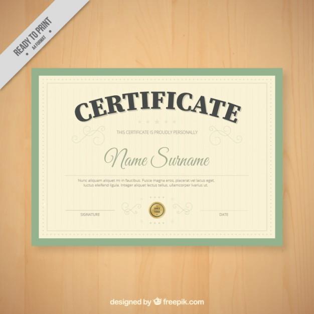 Simple Vintage Diploma