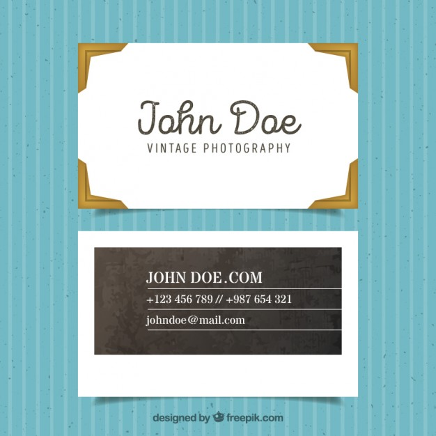 Elegant Vintage Photographer card