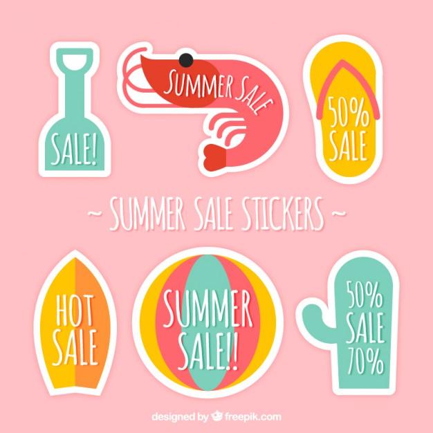 Enjoyable Summer Sale Labels