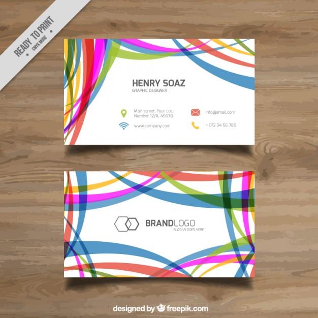 Colorful Stripes Modern Corporative Card