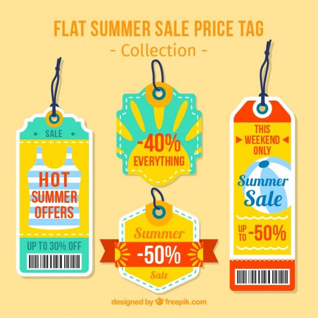 Cute Summer Discount Tags