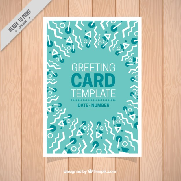 Greeting Card With Geometric Shapes