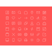 Freebie 2px lines 48x48px Icons