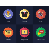 Flat Serivces Icons