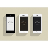 iPhone5S – Flat Design Mockup