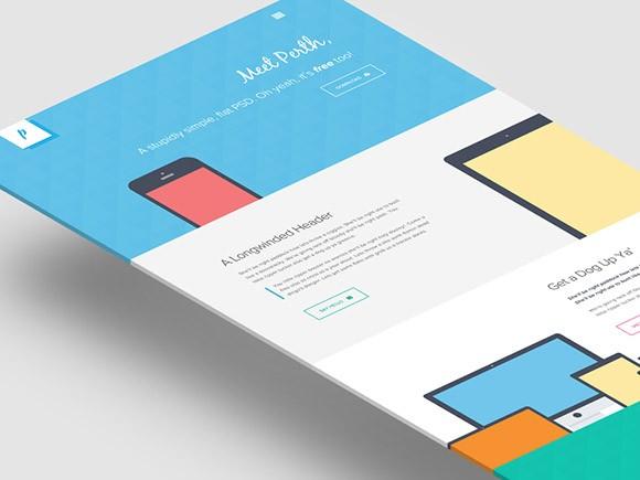Perth – Flat Website Template