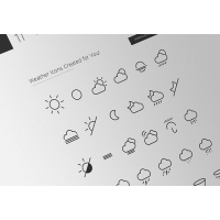 42 Minimal Weather Icons