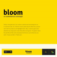 Bloom: E-Commerce Theme Concept