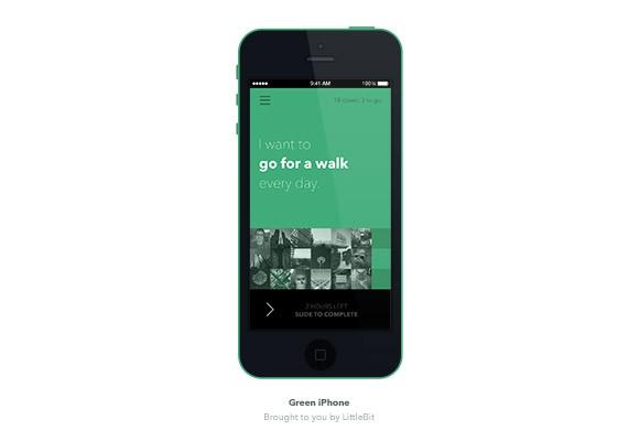 Green iPhone 5C Mockup