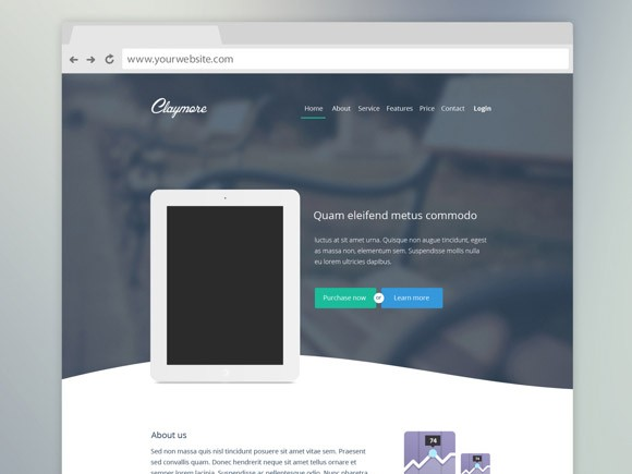 Claymore – Landing Page For App