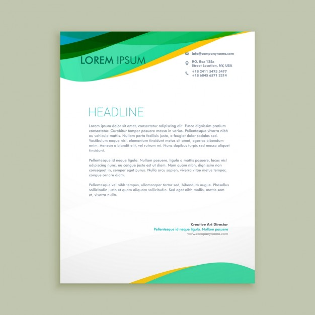 Beautiful Letterhead Presentation