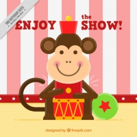 Nice Monkey In The Circus Background