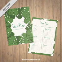 Palm Leaves Vegetarian Menu Template