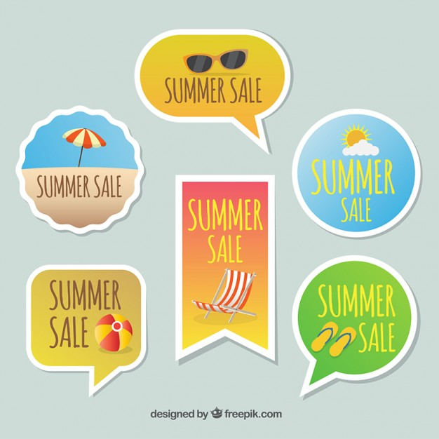 Decoraive Pack Of Summer Sale Stickers