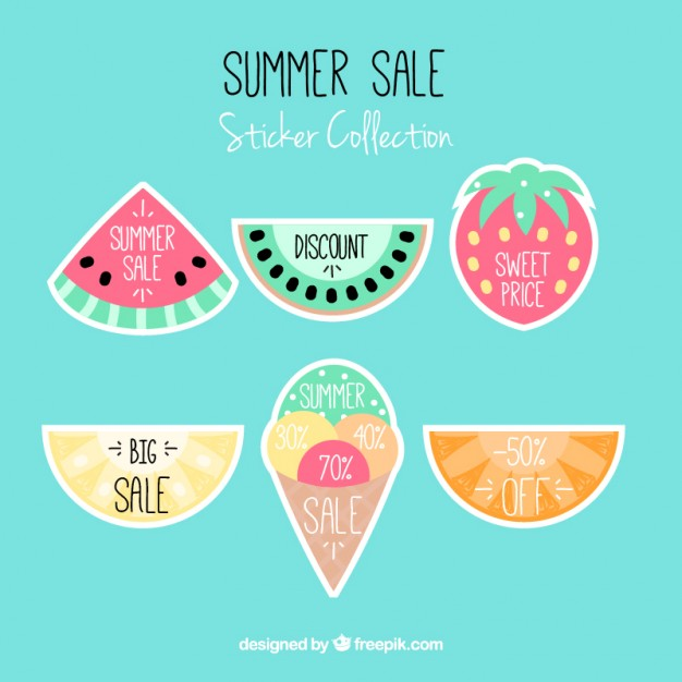 Sale Labels Fruit Shaped
