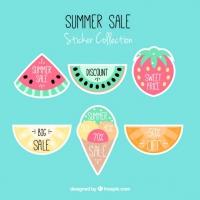 Sale Labels Fruit Shaped