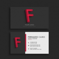 Dark Business Card With Letter