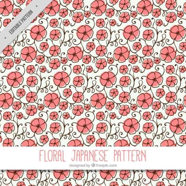 Hand Drawn Flowery Background
