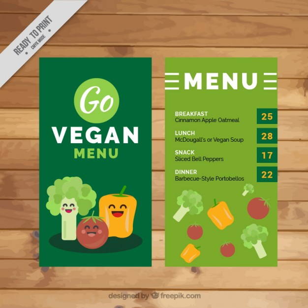 Nice Vegetables Vegan Menu Template