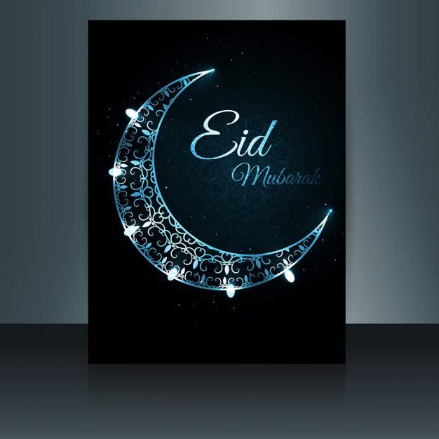 Decorative Moon Eid Mubarak Flyer