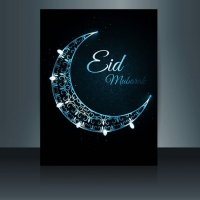 Decorative Moon Eid Mubarak Flyer