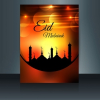 Orange Bright Eid Mubarak Flyer