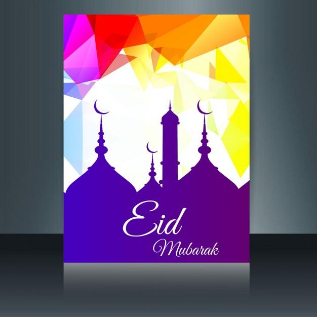 Polygonal Colorful Eid Mubarak Flyer