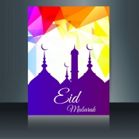 Polygonal Colorful Eid Mubarak Flyer