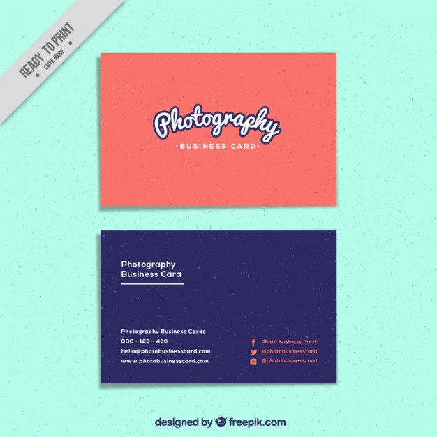 Colored Photography Studio Card