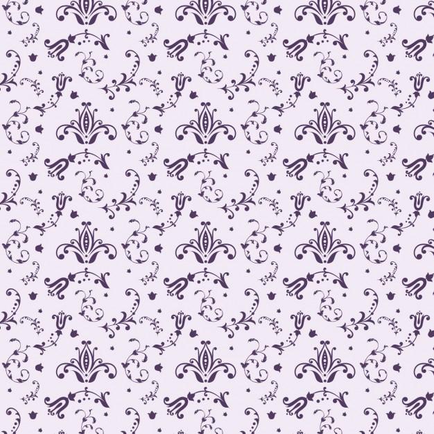 Purple Floral Pattern Design