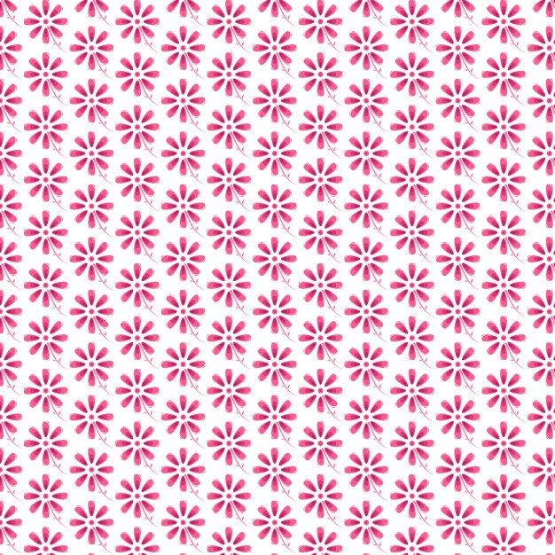Pink Flowers Pattern Design