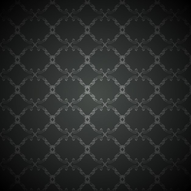 Black Background With Vintage Pattern