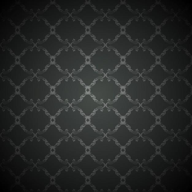 Black Background With Vintage Pattern