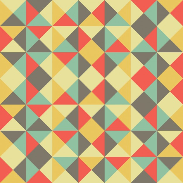 Coloured Background With Geometric Shapes