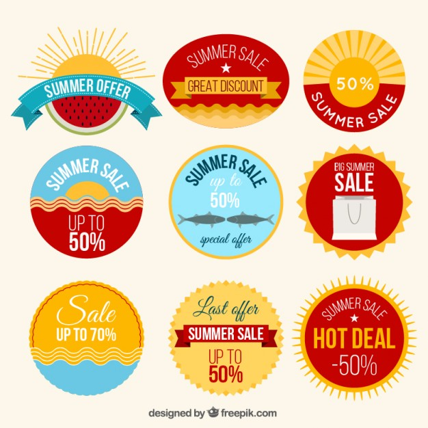 Pack Of Summer Sales Labels