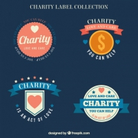 Pack Of Vintage Charity Labels