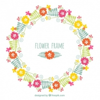 Hand Drawn Flower Frame
