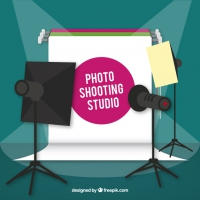 Photo Studio With Spotlights