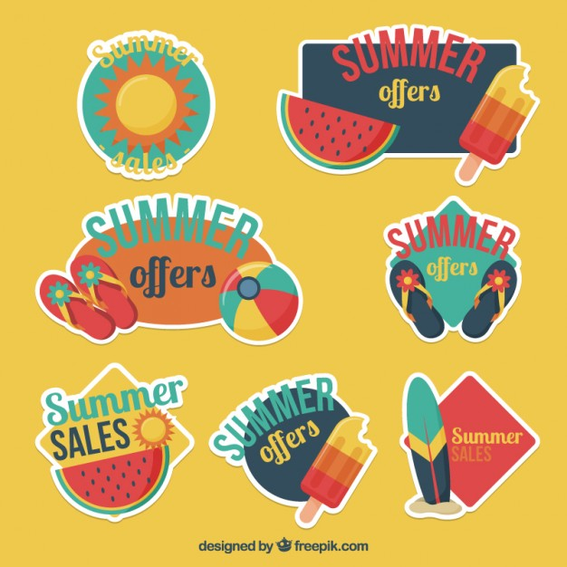 Collection Of Cute Summer Sale Label