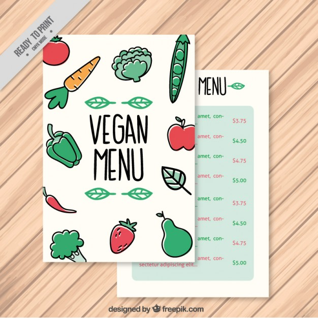 Vegetables Vegan Menu Template
