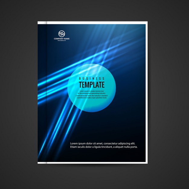 Blue Glowing Business Booklet