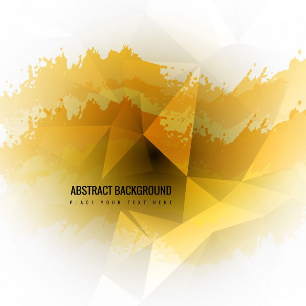 Modern Abstract Background In Yellow Tones