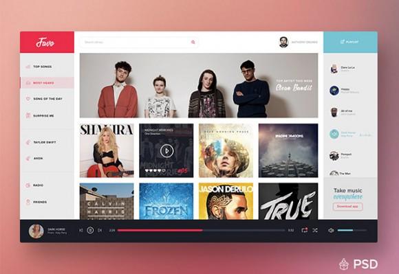 Music Dashboard UI