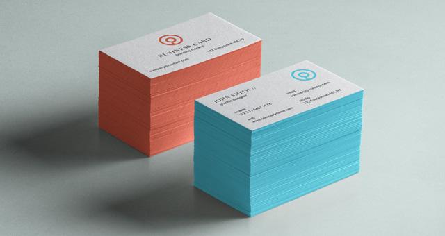 Psd Business Card Brand Mockup Vol5