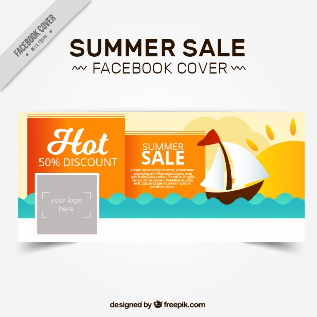 Summer Sale Cover With Boat