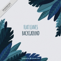 Flat Leaves Design Background