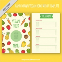 Coloured Vegan Menu Design
